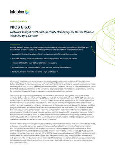 NIOS - Network Insight SDN And SD-WAN Discovery For Better Remote Visibility And Control